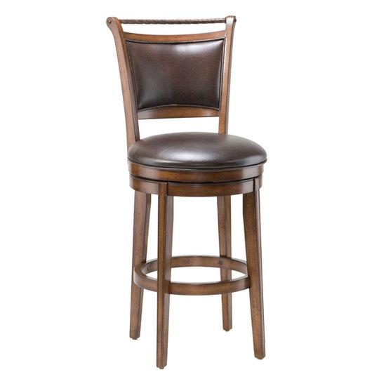 Hillsdale Furniture - Calais Swivel Bar Stool, Medium Brown Cherry