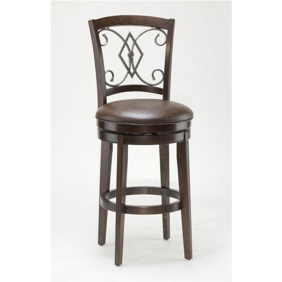 Hillsdale Furniture - Pamplona Swivel Bar Stool, Medium Brown Cherry