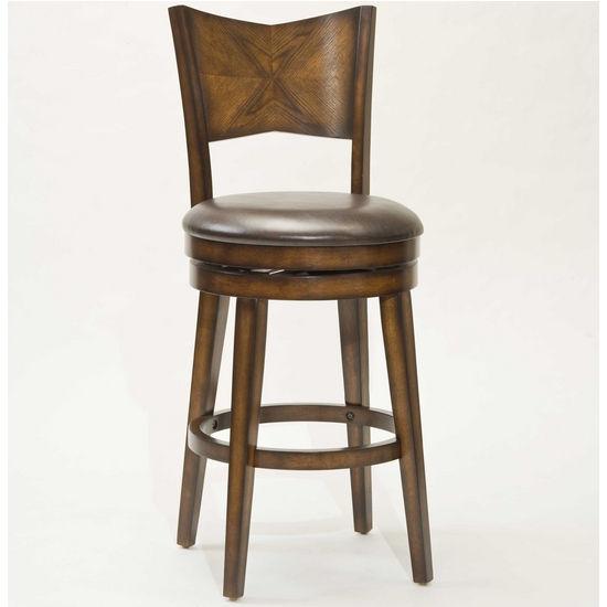 Hillsdale Jenkins Swivel Bar Stool, Rustic Oak, 20 inch W x 23 inch D x 44 inch H, 30-1/2 inch Seat Height