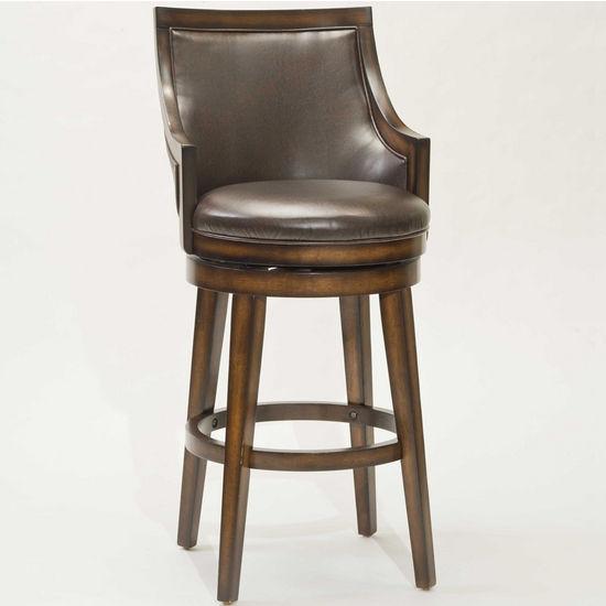 Hillsdale Lyman Swivel Bar Stool, Rustic Oak, 22 inch W x 23 inch D x 44-1/4 inch H, 30-1/2 inch Seat Height
