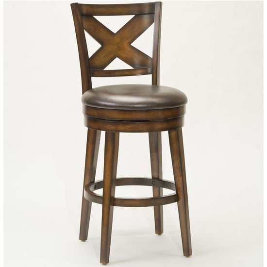 Hillsdale Sunhill Swivel Bar Stool, Rustic Oak, 19-1/2 inch W x 23 inch D x 45-1/4 inch H, 30-1/2 inch Seat Height