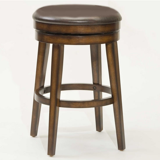 Hillsdale Beechland Backless Swivel Bar Stool, Rustic Oak, 20 inch W x 20 inch D x 30-1/2 inch H, 30-1/2 inch Seat Height