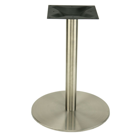 Round Stainless Base Coffee Height Tables: Counter Height Table Base Products On Sale