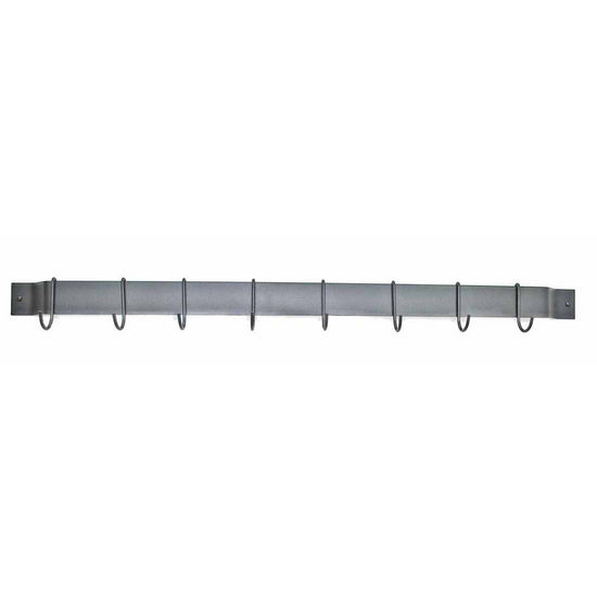 "Rogar 30"" Black Wall Mounted Bar Pot Rack"