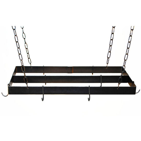Rogar Gourmet Collection Rectangle Pot Racks with Centerbar