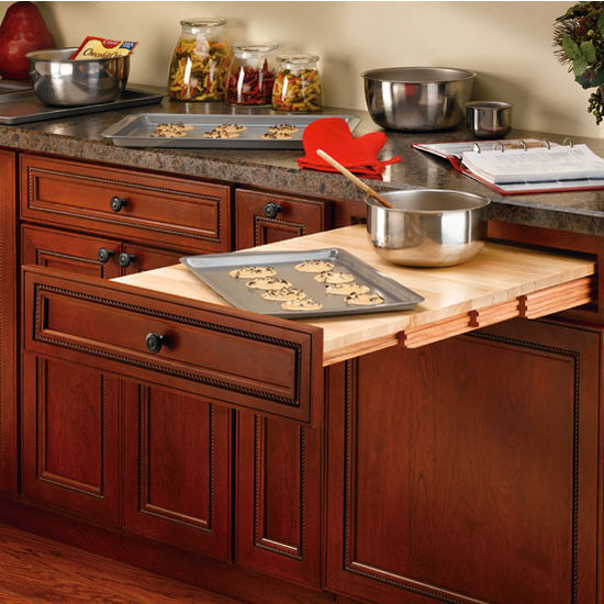 Rev A Shelf Wood Pull Out Table For Kitchen Or Desk Cabinet