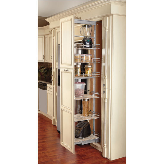 Rev a shelf pull out pantry with maple shelves for tall - Roll out shelving for pantry ...