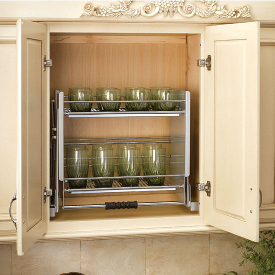 Pull Down Shelving System For Kitchen Wall Cabinet