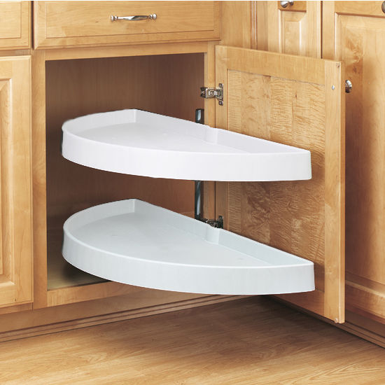 Lazy Susan with Pivot-Out Shelves