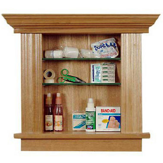 Recessed Cabinetry Small Maple Bathroom Medicine Cabinet