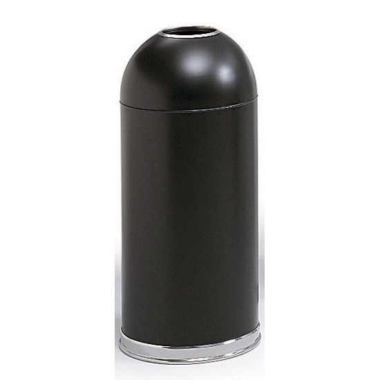 Trash Can 15 Gallon Open Top Dome Metal Trash Can From