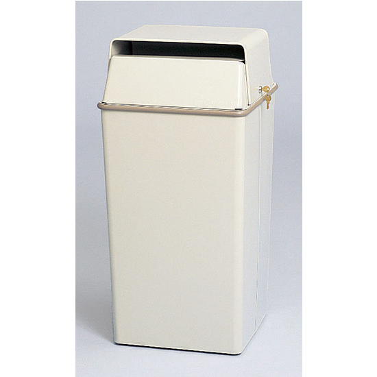 36-Gallon Steel Security Trash Can