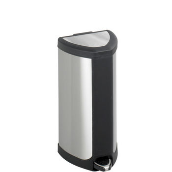 Safco Stainless 4 Gallon Step-On Receptacle