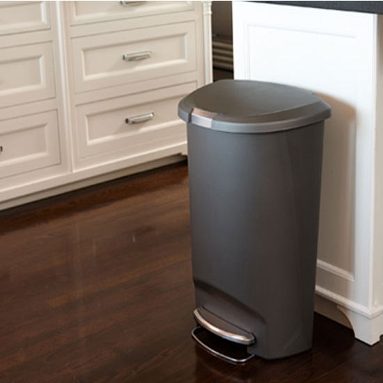 Best Compare Price Simplehuman Semi Round Step Trash Can In Grey
