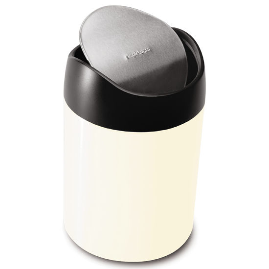 Trash Cans Simplehuman 0 4 Gallon Steel Counter Top