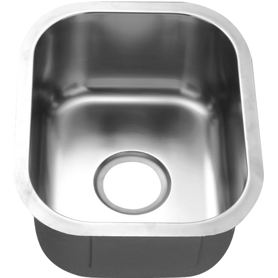 "Dawn Sinks Bar Sink Series Stainless Steel Undermount Bar Sink, 13-3/4"" W x 17"" D x 7-1/8"" H"