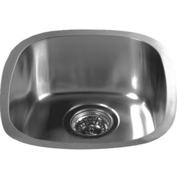 "Dawn Sinks Bar Sink Series Stainless Steel Undermount Bar Sink, 13-1/2"" W x 15-1/8"" D X 6-1/8"" H"