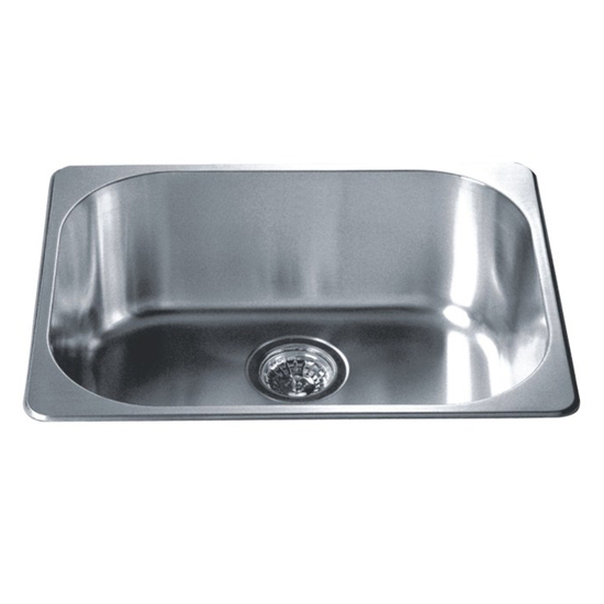 Kitchen Sinks Single Drop In Series Stainless Steel Top