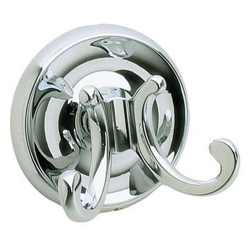 "Smedbo Villa Polished Chrome Double Towel Hook 2�"" D"