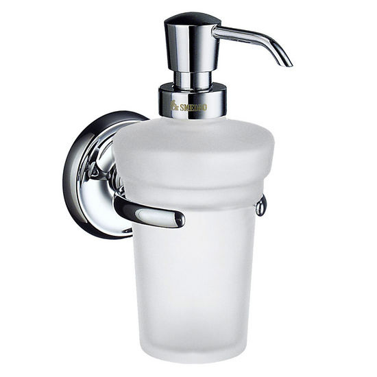 "Smedbo Villa Polished Chrome Wallmount Holder with Soap Dispenser 6�""H"