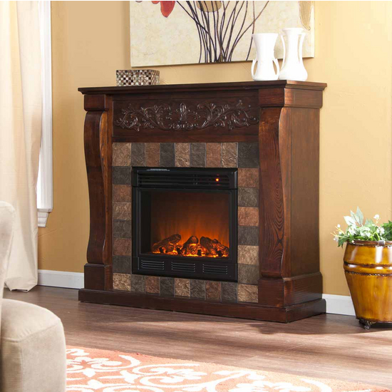 Holly & Martin™ Calgary Electric Fireplace, Espresso