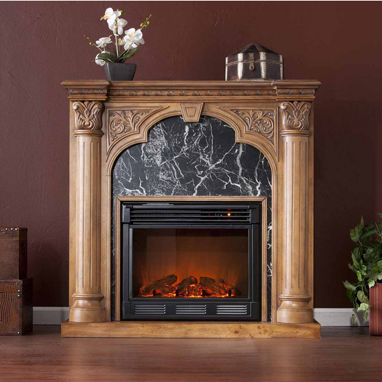 Holly & Martin™ Bedford Electric Fireplace, Old World Oak