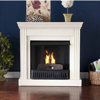 Holly & Martin™ Bastrop Petite Convertible Gel Fireplace, Ivory