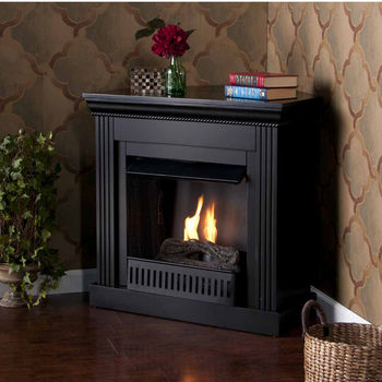 Holly & Martin™ Bastrop Petite Convertible Gel Fireplace, Black