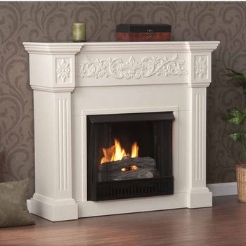 Holly & Martin™ Huntington Gel Fireplace, Ivory