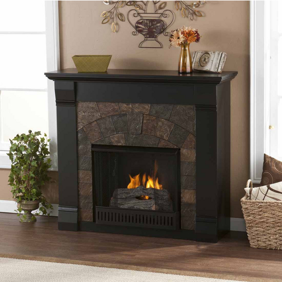 Holly & Martin™ Underwood Gel Fireplace, Black