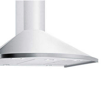 Storch Wall Mounted European Range Hood with Rounded Front, Stainless Steel