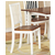 Steve Silver Branson Side Chair Set of 2, White and Oak Finish
