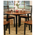 Steve Silver Branson Double Drop Leaf Table, Black and Cherry Finish