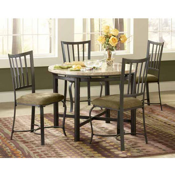 Steve Silver 5 Piece Paloma Dining Set with 4 Chairs, Metal Base