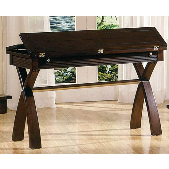 Steve Silver Raleigh Sofa Table with Two Extensions, Dark Cherry Finish
