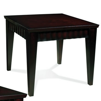 Steve Silver Burton End Table, Dark Cherry Finish