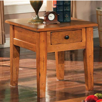 Steve Silver Liberty End Table, Oak Finish