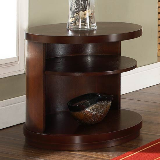 Steve Silver Luna End Table, Cherry Finish