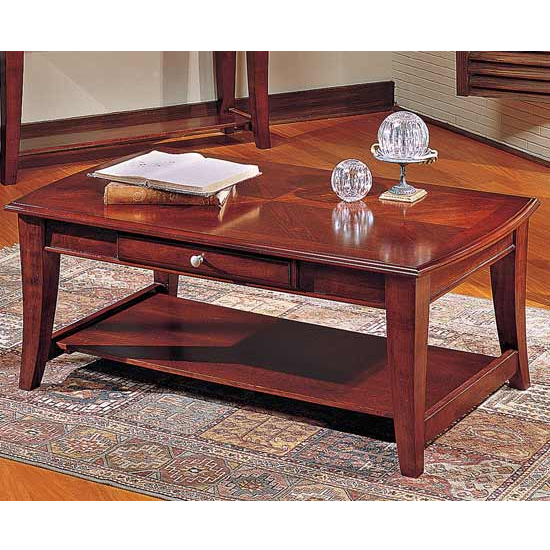 Steve Silver Hamilton Cocktail Table, Cherry Finish
