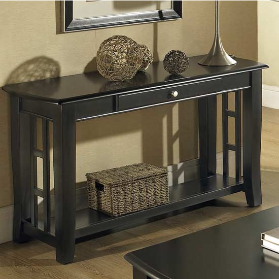 Steve Silver Cassidy Sofa Table, Black Finish
