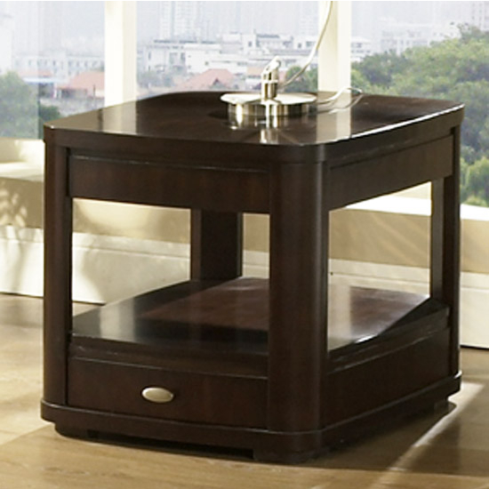 Steve Silver Isabelle End Table, Dark Cherry Finish
