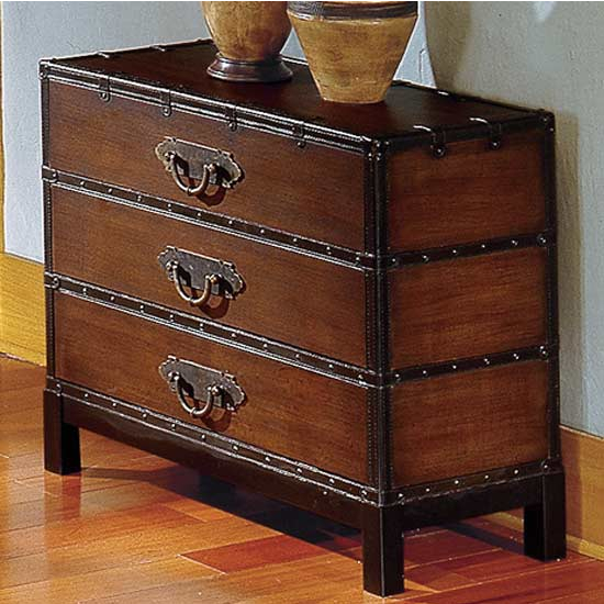Steve Silver Voyage Chest, Antique Cherry Finish