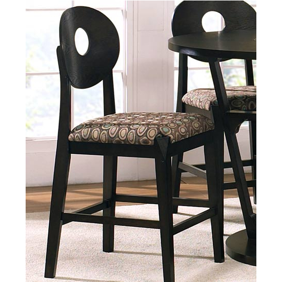 Steve Silver Optima Counter Chair Set of 2, Black Finish