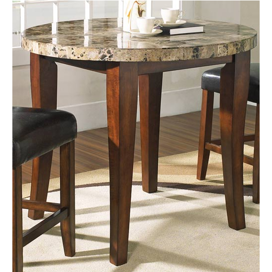 Steve Silver Montibello Counter Table, Round, Cherry Finish