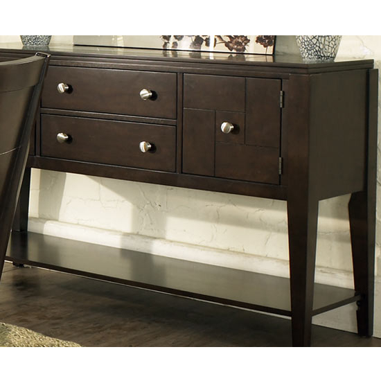 Steve Silver Ice Sideboard, Dark Cherry Finish