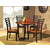 Steve Silver 5 Piece Abaco Dining Set with 4 Chairs, Acacia Finish