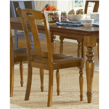 Steve Silver Barbados Side Chair Set of 2, Honey Oak Finish