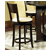Steve Silver 5 Piece Rossi Counter Dining Set with 4 Chairs, Espresso Finish
