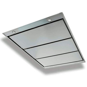 Sirius Contemporary Stainless Steel Ceiling Mount Hood, 600-1100 CFM