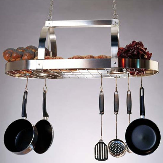 Contemporary Pot Rack with Downlights